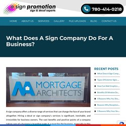 What Does A Sign Company Do For A Business?