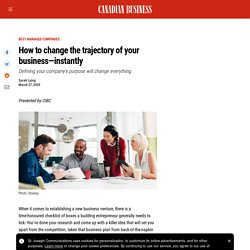 How to define your company's purpose - Canadian Business