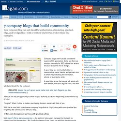 7 company blogs that build community