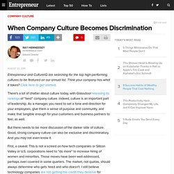 When Company Culture Becomes Discrimination