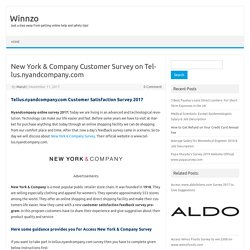 New York & Company Customer Survey on Tellus.nyandcompany.com