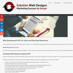 Web Design Company NYC
