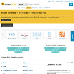 Company Reviews: Job Reviews and Ratings Direct from Employees
