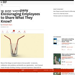 Is Your Company Encouraging Employees to Share What They Know?