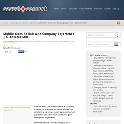 Mobile Goes Social: One Company Experience | Giancarlo Mori