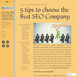 5 tips to choose the Best SEO Company