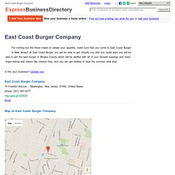 East Coast Burger Company, 75 Franklin Avenue, , Washington, New Jersey, 07450, United States