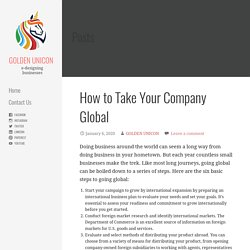 How to Take Your Company Global - GOLDEN UNICON