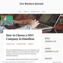 How to Choose a SEO Company in Hamilton