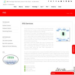 ITeS company, JSM infotech is a world class ITeS company.