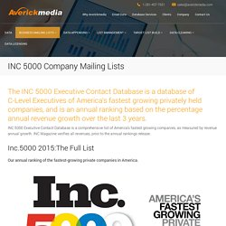 INC 5000 Company Mailing Lists
