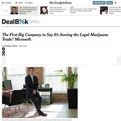 The First Big Company to Say It's Serving the Legal Marijuana Trade? Microsoft.
