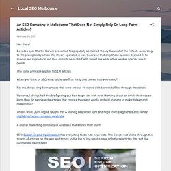 An SEO Company In Melbourne That Does Not Simply Rely On Long-Form Articles!