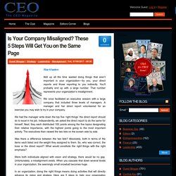 Is Your Company Misaligned? These 5 Steps Will Get You on the Same Page