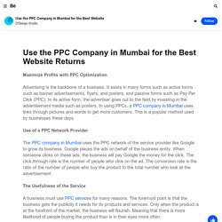 Use the PPC Company in Mumbai for the Best Website on Behance