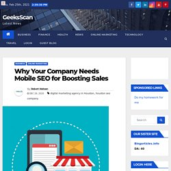 Why Your Company Needs Mobile SEO for Boosting Sales