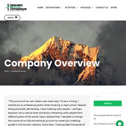 Heaven Himalaya - Travel Agency in Nepal