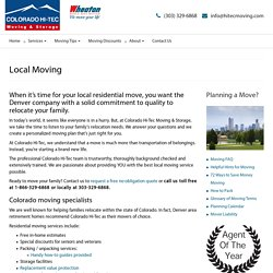Denver Local Moving Company Professional Movers