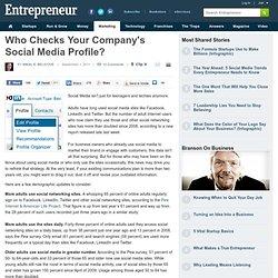 Who Checks Your Company's Social Media Profile?