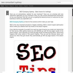 seo consultant sydney: SEO Company Sydney - Best choice for rankings