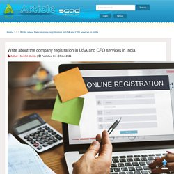 Write about the company registration in USA and CFO services in India.