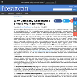 Why Company Secretaries Should Work Remotely