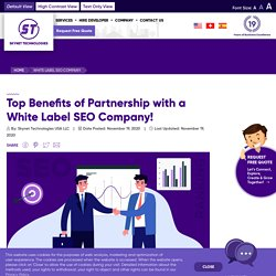 Why do you need to partner with a white-label SEO company? - Skynet Technologies USA LLC