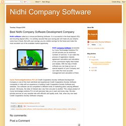 Buy Nidhi Company software