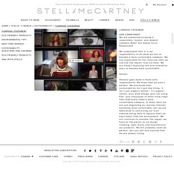 Company Statement - Stella McCartney