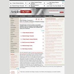 How To Create A Superior Website Design