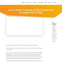 How to Make Company Profile Sample-Free template (PDF & PSD) - Absoluit