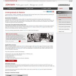 Undergraduate and masters > Apply to Bain