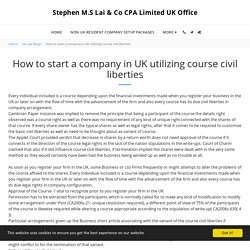 how to start a company in uk