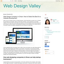 Web Design Valley: Web Design Company in Oman- How to Select the Best for a Website Development