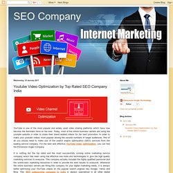 SEO Company: Youtube Video Optimization by Top Rated SEO Company India