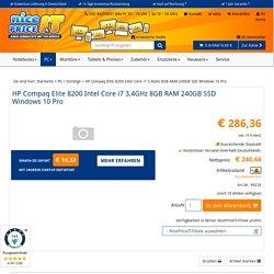 HP Compaq Elite 8200 Intel Core i7 3,4GHz 8GB RAM 240GB SSD Windows 10 Pro-99228