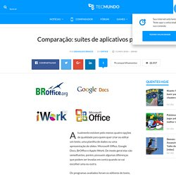 Comparação: suítes de aplicativos para escritório