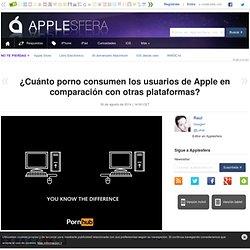 ¿Cuánto porno consumen los usuarios de Apple en comparación con otras plataformas?