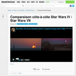 Comparaison côte-à-côte Star Wars IV / Star Wars VII
