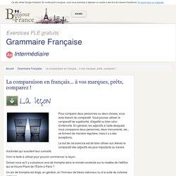La comparaison en français... à vos marques, prêts, comparez !
