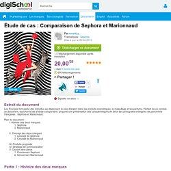 Étude de cas : Comparaison de Sephora et Marionnaud, exposé à télécharger gratuitement