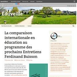 La comparaison internationale en éducation au programme des prochains Entretiens Ferdinand Buisson