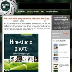 Mini-studio photo : comparaison des accessoires d'éclairage