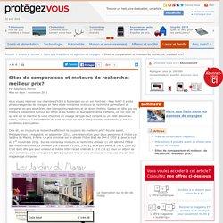 Sites de comparaison et moteurs de recherche: meilleur prix?