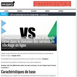 Comparaison entre Dropbox et Google Drive dans le domaine des services de stockage en ligne