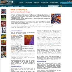 Comparaison technique art peinture à l'huile ou acrylique sur toile