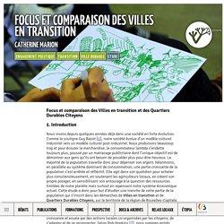 Focus et comparaison des Villes en transition