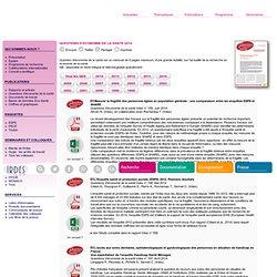 Questions d'économie de la santé : 2013 (état de santé, protection sociale, enquête, analyses économiques, comparaisons internationales)
