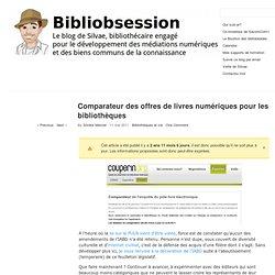 Comparateur des offres de livres numériques pour les bibliothèques