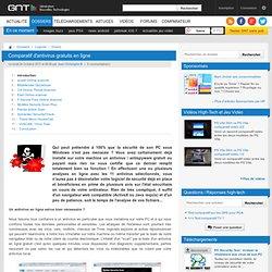 Comparatif d'antivirus gratuits en ligne (GNT)